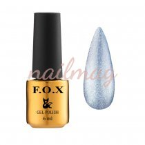Гель-лак FOX для ногтей Crystal Cat Eye №004, Синий, 6мл